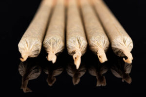 Cannabis Marijuana Rolled in Joints