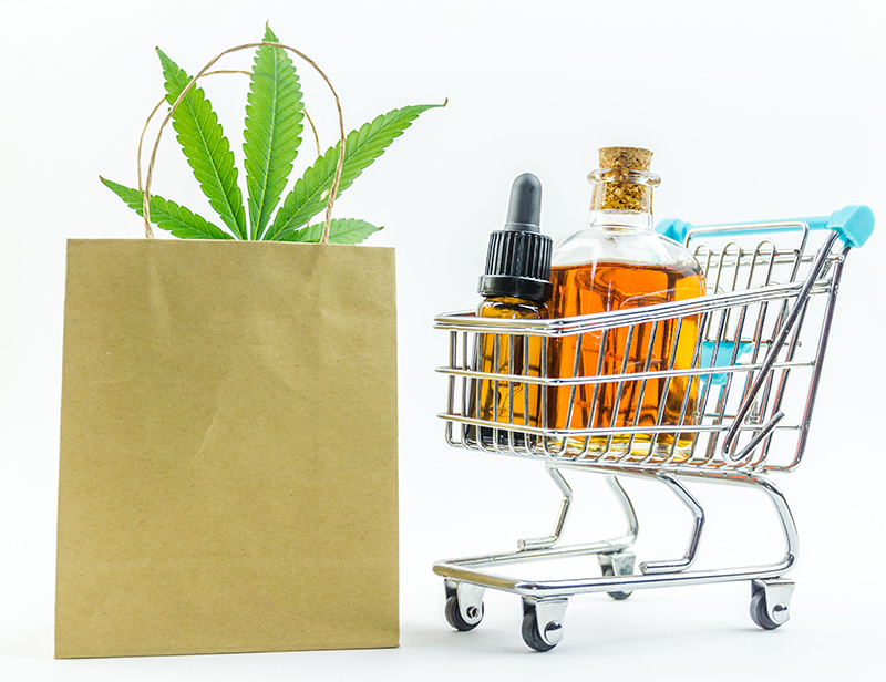 Buy Weed Online Shopping Cart with Marijuana, Concentrates and Edibles